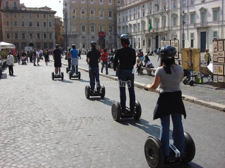 On the segway