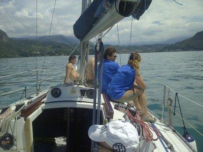 5 uscite libere di pratica di vela, Lago di Garda