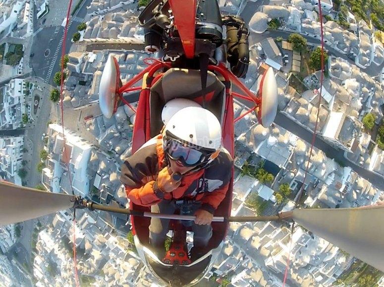 Selfie in hang gliding