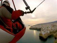 Flying over Polignano