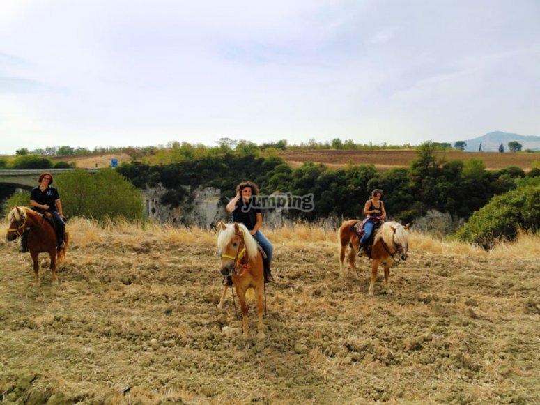 Escursione a cavallo al canyon