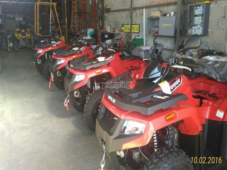 I quad pronti a partire