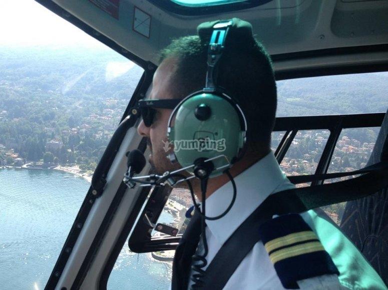 Il pilota in azione