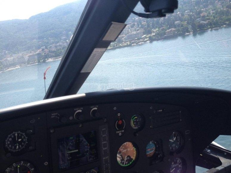 La vista dall'elicottero