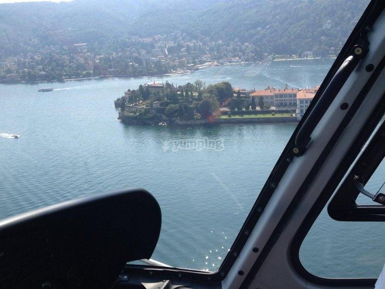 Flying over Isola Bella