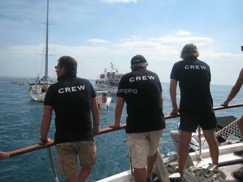 Il nostro team a bordo