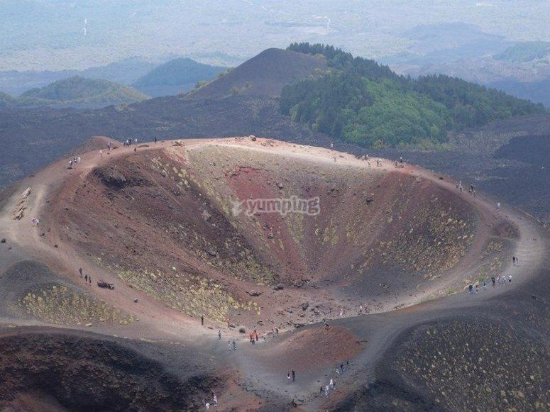 Uno dei crateri spenti visitabili