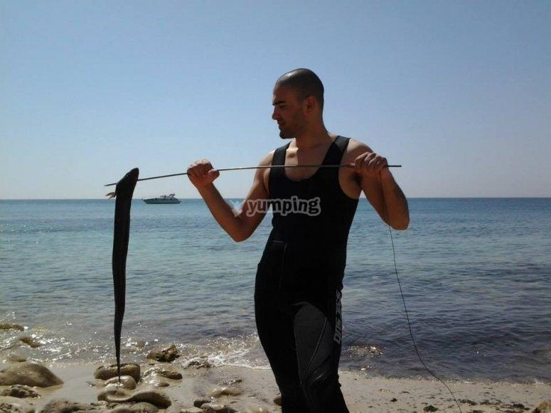 Dopo la battuta di pesca