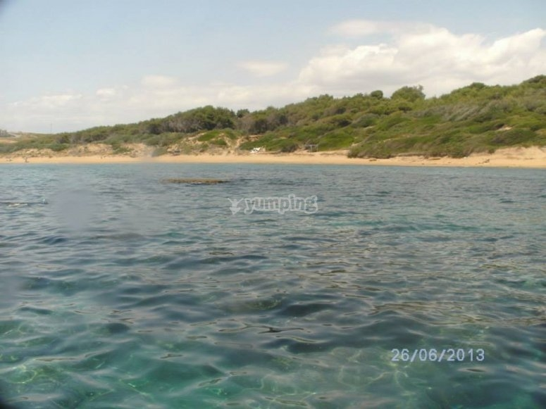 Capo Cimiti from the sea