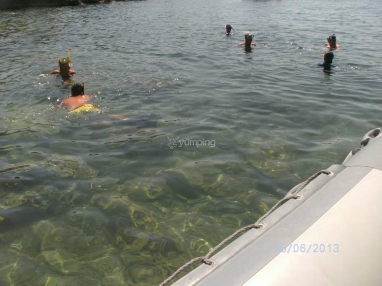 Un bel tuffo in acqua