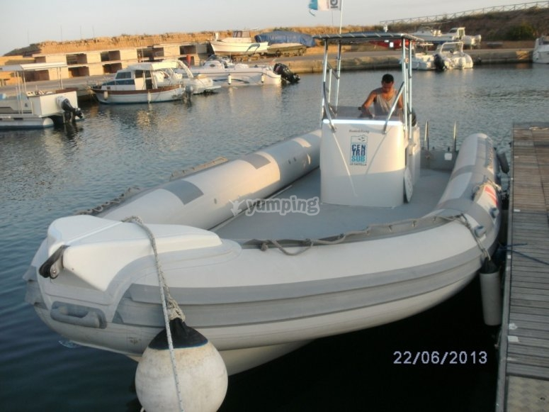 Our 9-meter dinghy