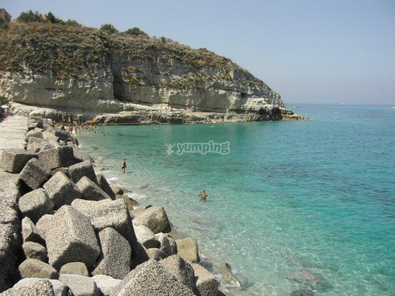 The beaches of Tropea