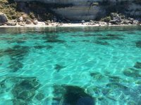 the crystal clear waters of the bay