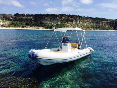 Inflatable boat rental 6.00m in Tropea (high season)