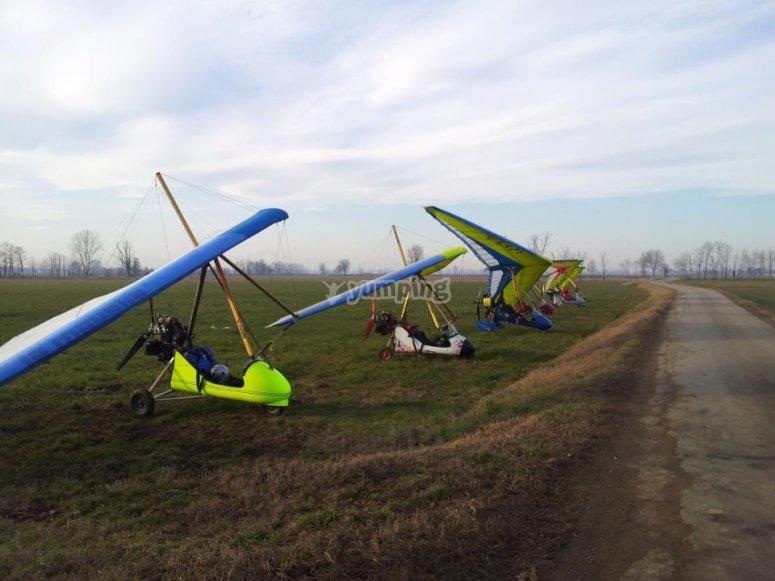 Deltaplani in pista