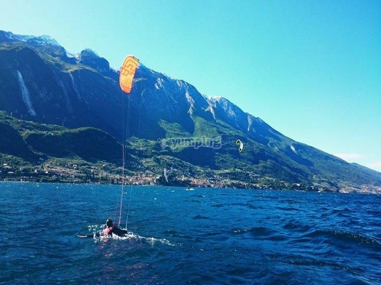 Giornata di kitesurf