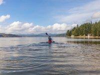 In canoa sul lago di Garda