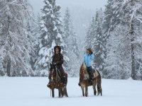 anche con la neve i nostri cavalli saranno felici di cavalcare con te