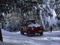 Off-road trails in winter