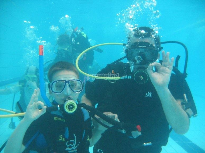 All underwater