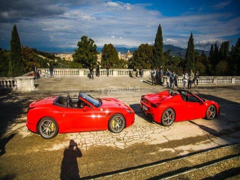 Ferrari a Piazzale Michelangelo