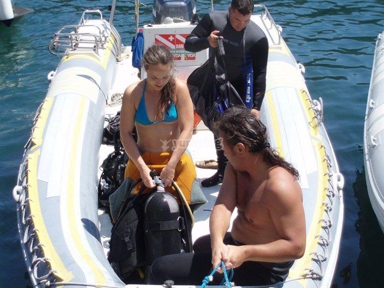 Baptism diving