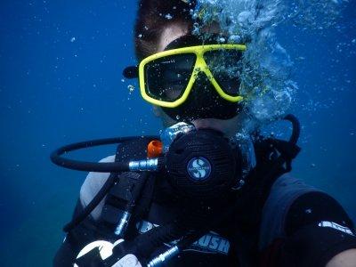 Baptism diving in Ventotene