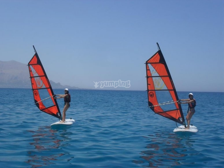 Try our windsurfers
