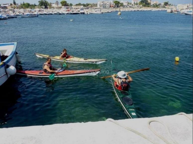 Corso di kayak in Sicilia