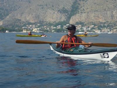 Corso di kayak all'Isola delle Femmine