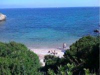 Una delle spiagge della zona