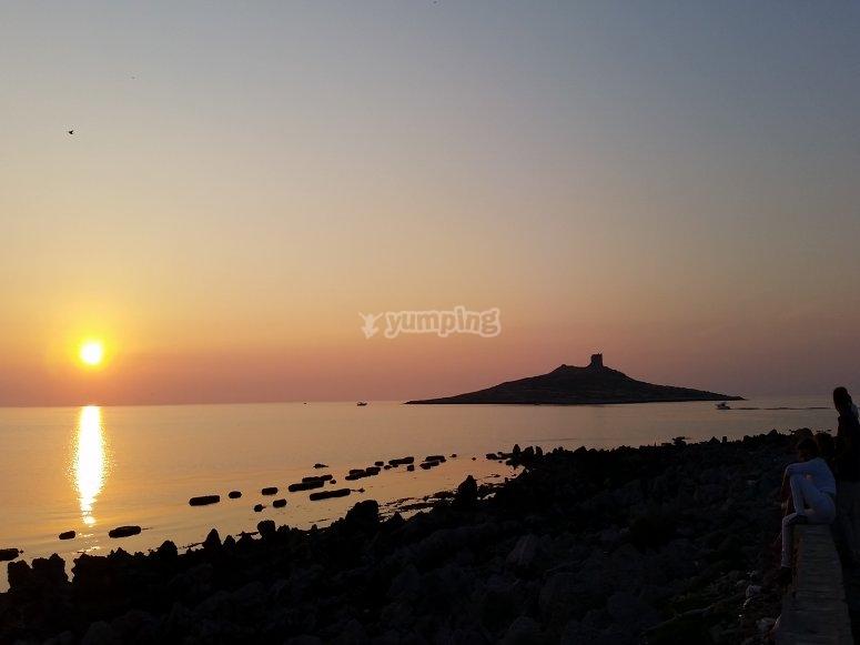 Sunset in Isola delle Femmine