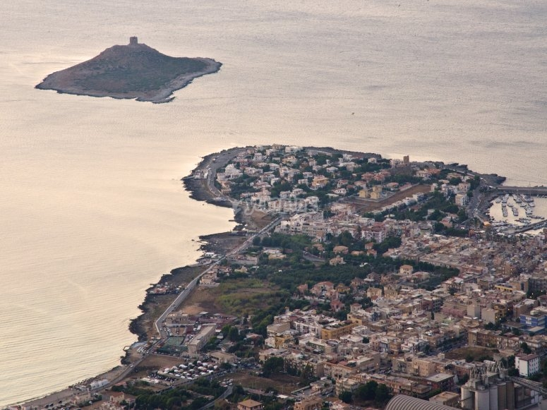 Isola delle Femmine from above