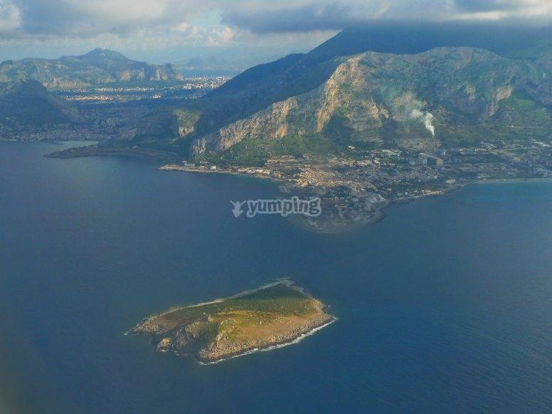 Vista su Isola delle Femmine