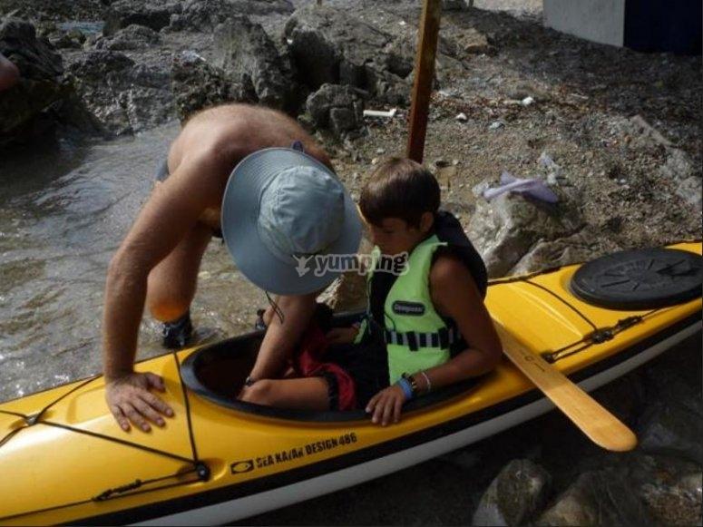 Uno dei nostri kayak