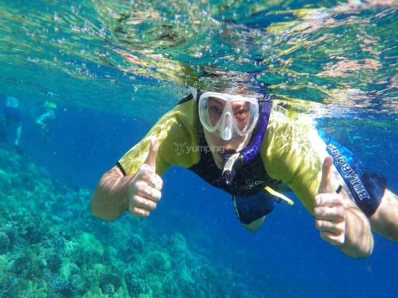 Snorkeling nell'area marina protetta