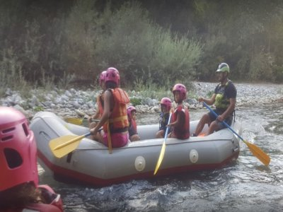 Rafting Family in the Lao river, 1,5 hours navigation