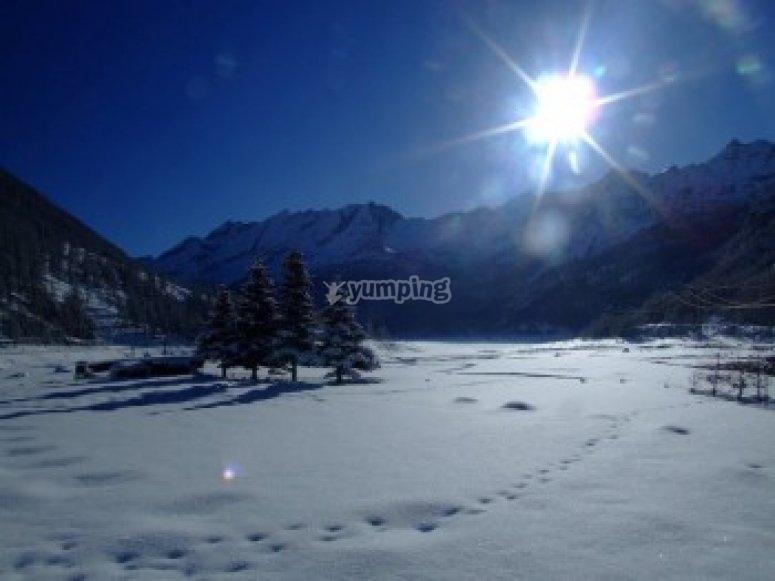 Gran Paradiso with snow