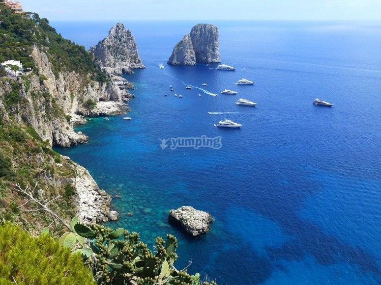 Vista su Capri