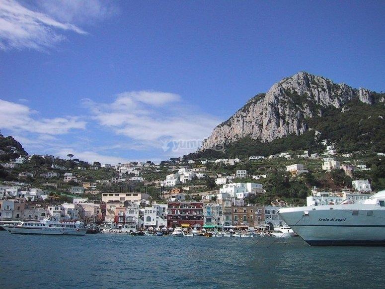 Arrivando a Capri