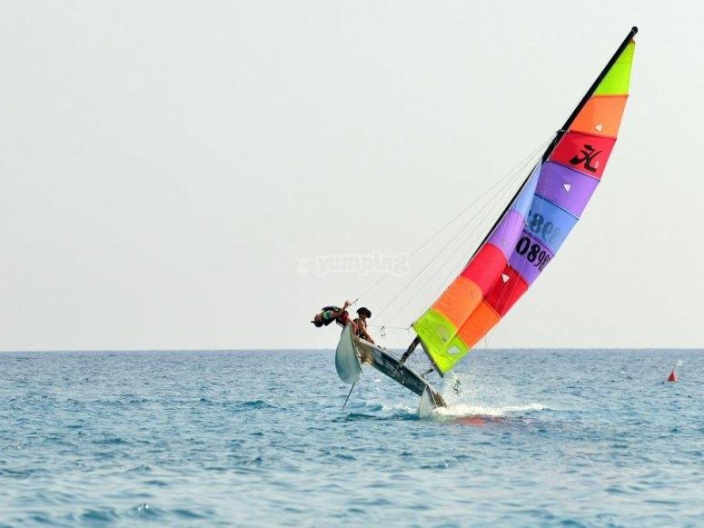 Sfidando le onde e il vento