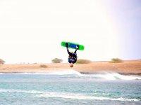 Kiteboard upside down