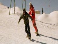 I corsi di snowboard nel parco della Majella