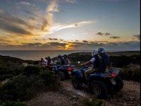 in quad al tramonito