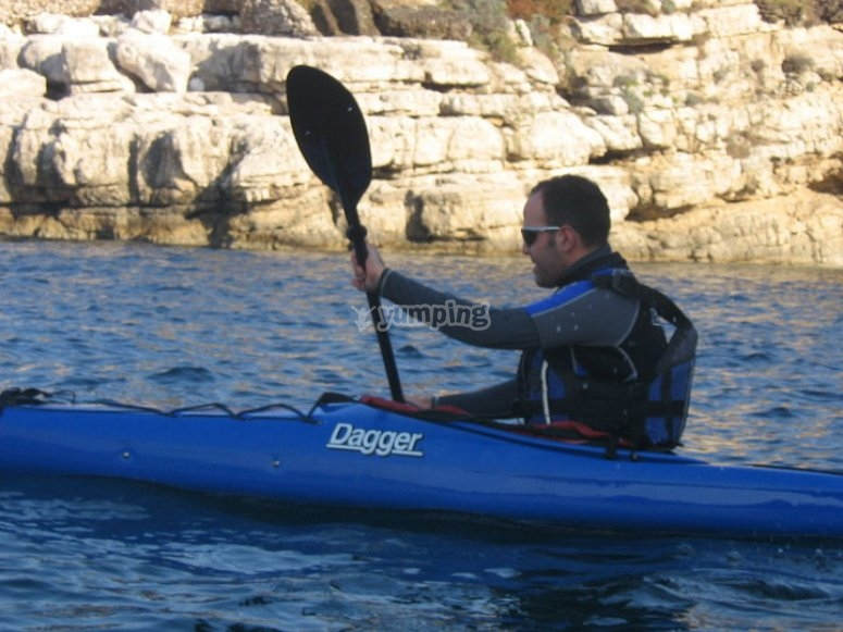 Divertimento sul kayak