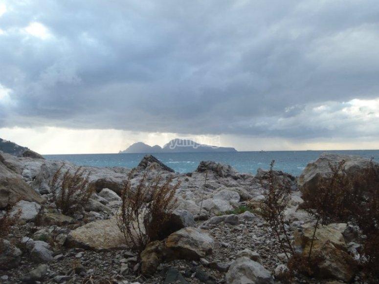 La vista su Capri