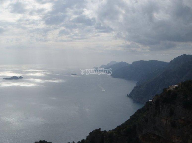 La vista sul mare