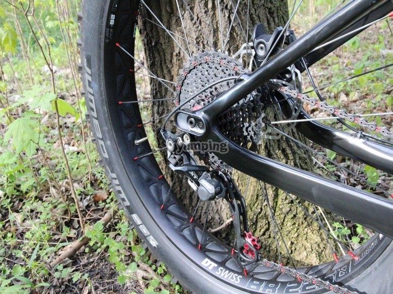 Dettagli della mountain bike