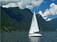 By boat on Lake Como