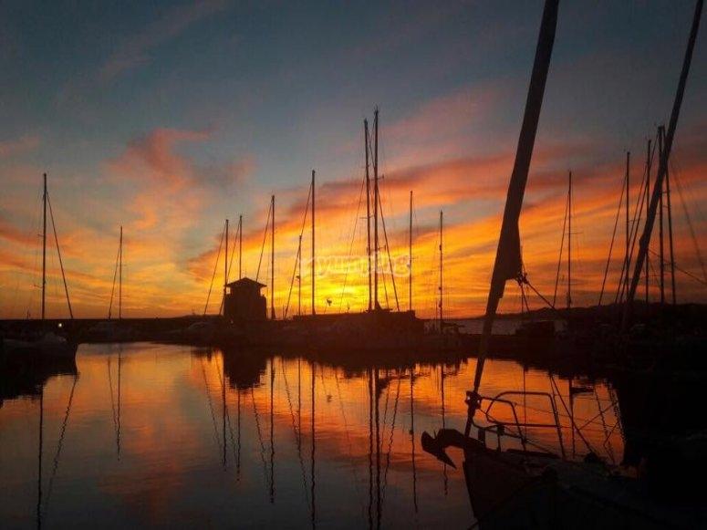 Cena romantica al porto